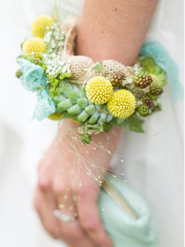 Bruidsarmband met planten